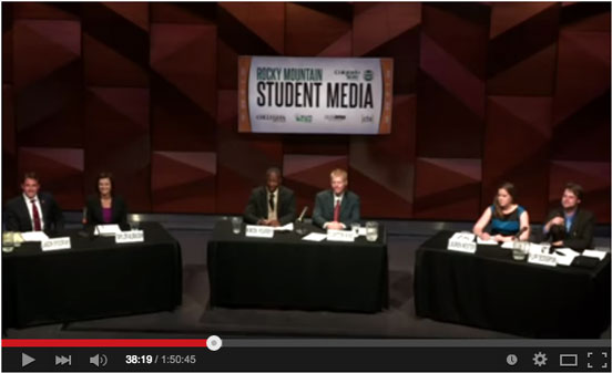 As part of the student government election season in spring 2015, I moderated and helped coordinate a live broadcast of the 2015 Associated Students of Colorado State University presidential Debate.